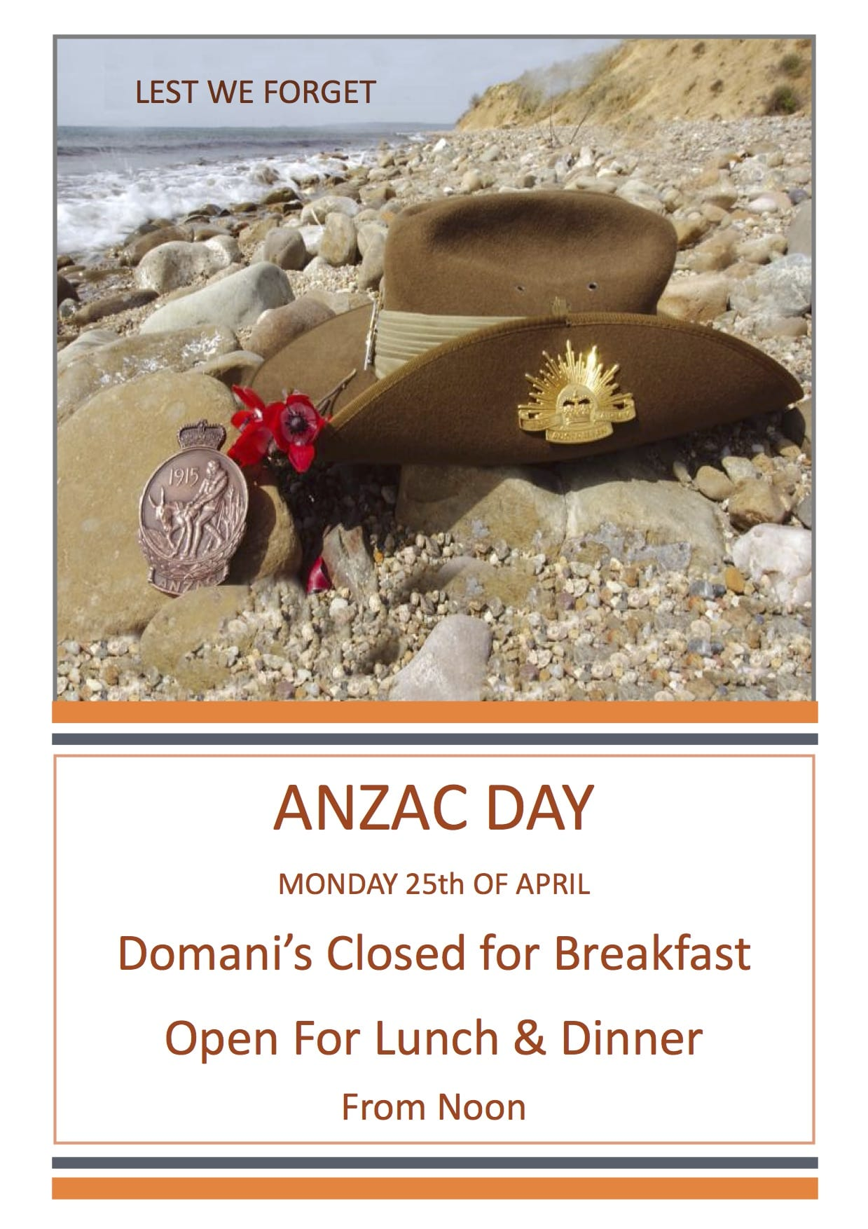 2016 ANZAC DAY POSTER